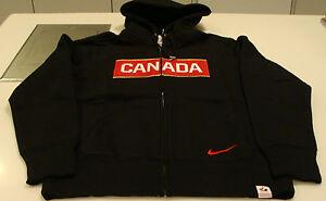 Team Canada 2014 Sochi Winter Olympics Hockey S Classic Black Full Zip Hoody