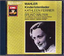 Kathleen Ferrier: Mahler enfants morts chansons Walter EMI UK CD Gluck Purcell commerce