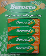 NEW 60 BEROCCA Orange flavour effervescent tablets  (4 x 15 sealed packs)