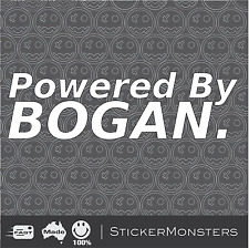 POWERED BY BOGAN Sticker Funny Aussie Cricket VB Straya Bogan JDM 4x4 Car Ute