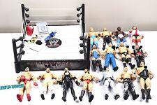 WWE Jakks Classic Superstars Ruthless Wrestling Figure Lot W/ Ring & Accessories
