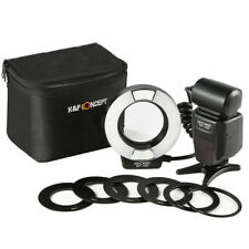KF-150 Macro Ring Flash Light 6 Adapter Rings for Nikon DSLR Camera K&F Concept