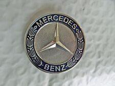 MERCEDES™  Hood Bonnet Badge Emblem Blue & Chrome A 204 817 06 16 Free Ship