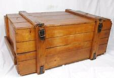 THE BIGGEST ON EBAY -  WOODEN TRUNK RESTORED AND IMPREGNATED 105 X 56 X 43 CM