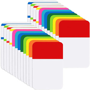KIMCOME File Index Tabs 1 Inch Sticky Flags 480 Pcs, Colored Page Markers Self A