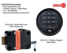 Sargent and Greenleaf S&G 6120-303 Electronic Keypad & Lock Kit - Matte Black