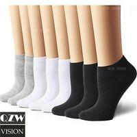 Lot 3-12 Pairs Mens Womens Ankle Socks Cotton Low Cut Casual Size 9-11 10-13