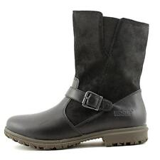 Womens Bogs Bobby Mid Round Toe Black Leather Mid Calf Boot Waterproof SZ 6