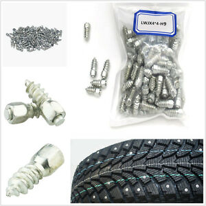 100 X High Quality 9mm Screw Stud Car Off-Road Snow Chain Antislip Spike Stud