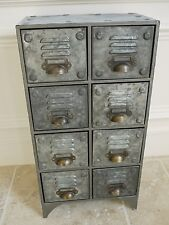 8 CASSETTI VINTAGE RETRÒ INDUSTRIALE Locker Room Storage Rack Armadietto petto unità