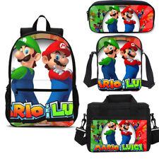 Super Mario Big School Backpack Insulated Lunch Bag Pencil Case Shoulder Bag Lot