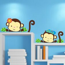 DIY Living Bed Room Decoration Cartoon Animal Vinyl monkey Home Decor Sticker