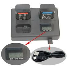 Three LCD Display Battery Charger For Canon LP-E6 7D 60D 6D 70D 5D2 5D Mark II