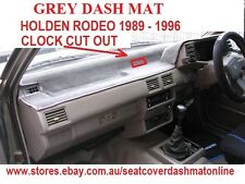 DASH MAT, DASHMAT HOLDEN RODEO 1989-1996, DARK GREY with clock cut out