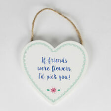 Heart Flowers Decorative Plaques & Signs