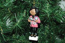 African American, Black Hair Dresser, Hairdresser, Stylist Christmas Ornament