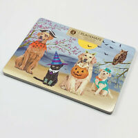 Halloween Dogs & Cat in Costume by Moonlight Cork Hardboard Placemats Set of 4