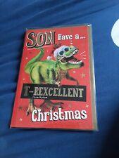 Son Christmas card BNIP - t-rex