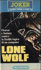 Lone wolf, di J. Callas, con D. Brown, K. Hart, 1988, 1a ed. Deltavideo, unica