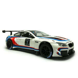 1:24 BMW M6 GT3 Racing Car Model Alloy Diecast Vehicle Collectable White Gift