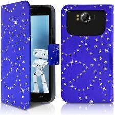 Housse Etui Portefeuille Motif Diamant Universel M bleu pour Doogee DG280 Leo