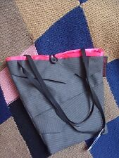 SUITCASE - Recycled in London /  Pink & Grey/ Bag from recycled men's suits