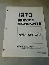 Nos 1973 Ford Galaxie Ltd Thunderbird Torino Power Door Locks Service Manual
