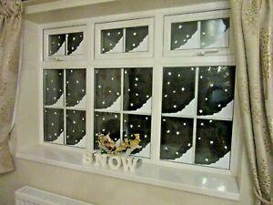 SNOW CORNERS, GLOSS WHITE VINYL, XMAS, CHRISTMAS STICKERS 100mm x 240mm