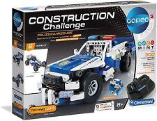 Clementoni 59144 Galileo Construction Challenge Polizeifahrzeuge, Bausatz Model