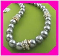 Brighton Neptune's Rings Pearl Gray 2 Tone Collar Short Necklace NWotag *