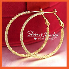 Alloy Hoop Yellow Gold Filled Fashion Earrings