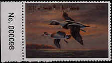WISCONSIN  #36  2013 STATE DUCK STAMP LONG TAILED DUCK By William Millonig