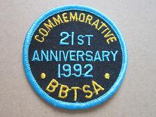 BBTSA British Baton Twirling Sports Assoc 1992 Ann Sport Woven Cloth Patch Badge