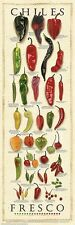 CHILES FRESCO CHART POSTER cuisine restaurant guide culinary chilli print