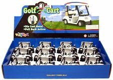 12 PCS Die-Cast Metal Golf Club Cart Model  With Club Pull Back action 5 inch