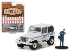 """1991 Jeep Wrangler YJ USPS with USPS Mail Carrier """"The Hobby Shop"""" Series 1 1/64"""