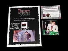 FREDDY KRUEGER ENGLUND SCREEN USED PIECE OF SWEATER HAND SIGNED WITH COA PROOF