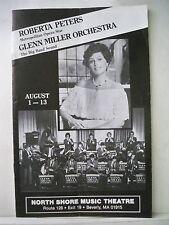 ROBERTA PETERS / GLENN MILLER ORCHESTRA Playbill NORTH SHORE MUSIC THEATRE 1983