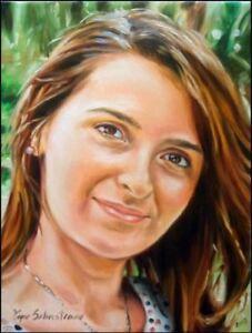 Ritratto su commissione olio su tela Ritratti IDEA REGALO NATALE 18X25