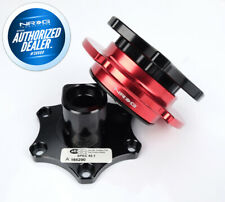 NEW NRG SFI Approved D Shaped Quick Release Black Body Red Ring SRK-R200BK-RD