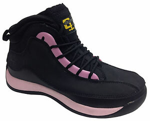 Women's Ankle Safety Metal Toe Cap Padded Lightweight Work Boots Pink