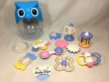 Sunlike Eco-Friendly Baby Toys Set in Owl Bottle 10pcs Teether Rattles Toys