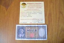 BANCONOTA LIRE 1000 ITALIA MEDUSA 1959 certificata BB+ SUBALPINA