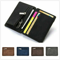New Men PU Slim Wallet Credit Card Holder Mini Coin Purse Money Clip Pocket Bag