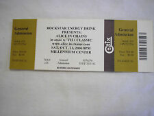 Alice In Chains 2006 Unused Concert Tickets Lot of 3 Authentic Rockstar Energy