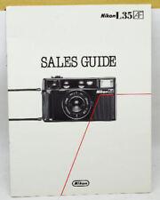 Nikon L35 Camera Sales Guide and Information Booklet Dealer Item