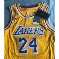 kids Kobe Bryant #24 Los Angeles Lakers Swingman Jersey Size L Gold(Gift)