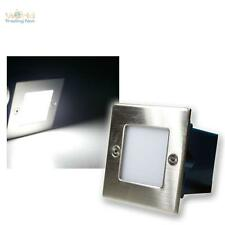 LED Wall-mounted luminaire Outdoor/Interior,cold white,Stainless steel