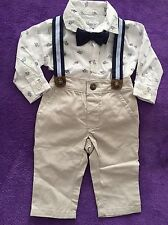 Gymboree Baby Boy 3-6m Dressed Up Outfit Turtles Suspenders Bow tie NWT Free Sho