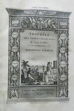 ***** TROPHEES DES ARMEES FRANCAISES DE 1792 A 1815 : EXPEDITION D'EGYPTE - 1819